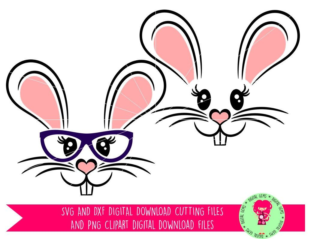 1036x796 Bunny Rabbit Face Easter Svg Dxf Cutting Files For Cricut