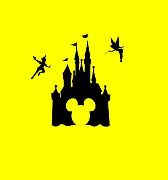 570x613 Disney Mickey Castle Svg Cutting Files Silhouette Svg, Dxf And Eps