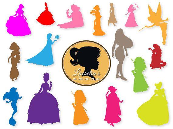 570x428 Disney Princess Silhouette Dxf, Princess Clipart, Svg Files