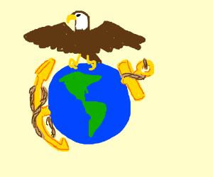 300x250 Free Eagle Globe And Anchor Clip Art