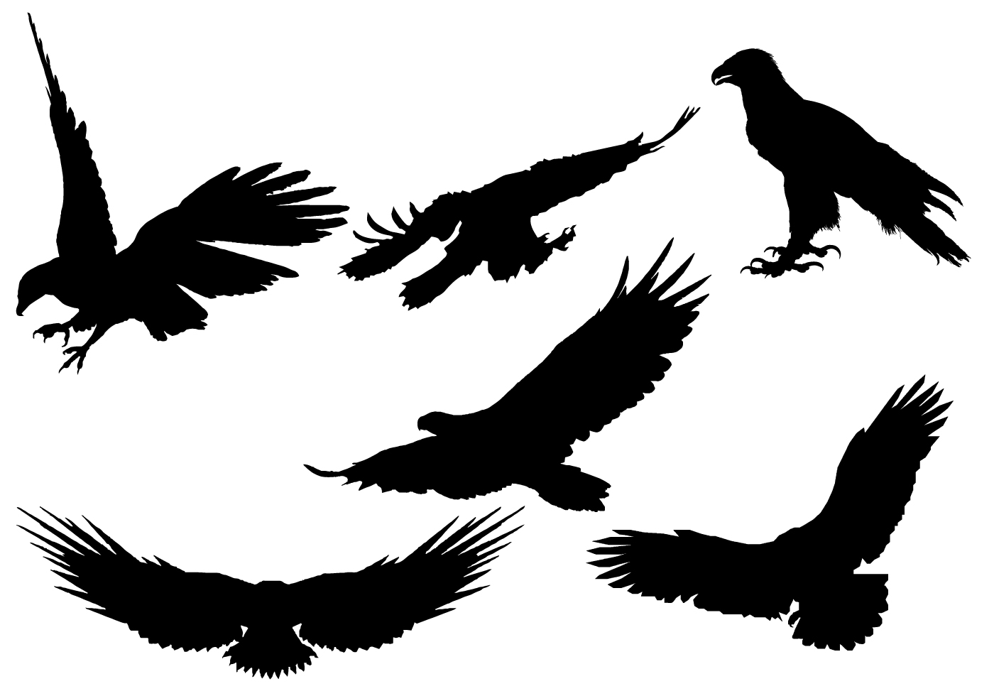 1400x980 Eagle Head Silhouette Vector