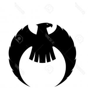 300x300 Photopowerful Eagle Silhouette With Long Curved Wings And A Fierce