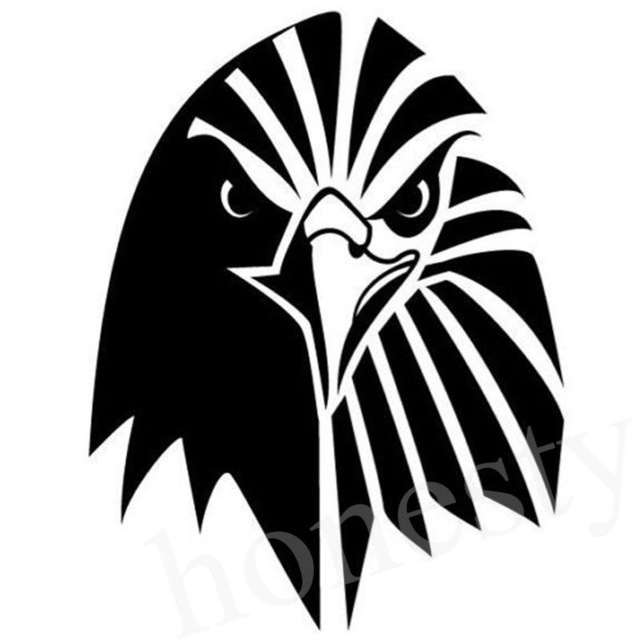 640x640 Bald Eagle Head Silhouette Car Sticker Laptop Truck Home Grass