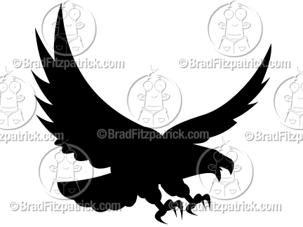 432x324 Vector Eagle Silhouette! See My Eagle Vector Silhouette Clip Art!