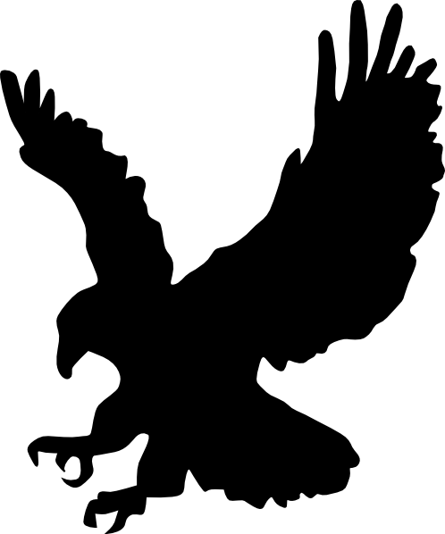 498x598 Silhouette Of Eagle
