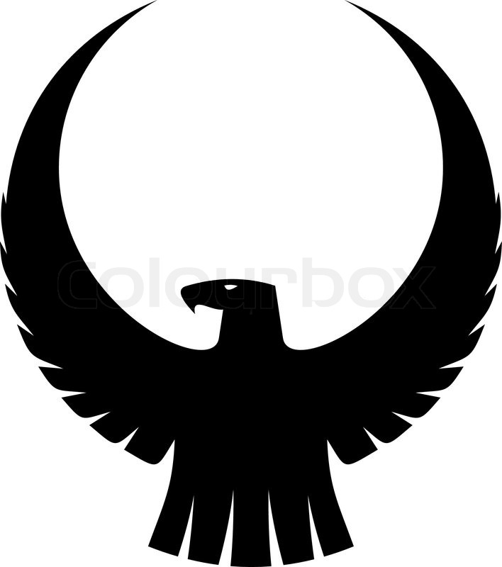 708x800 Black Silhouette Of An Imperial Eagle With Long Trailing Wing