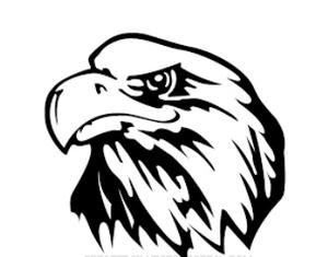 300x235 Detailed Eagle Silhouette Mascot Decal Visions On Vinyl