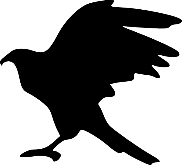 600x546 Eagle Silhouette Clip Art