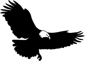 288x206 Eagle Silhouette Clipart
