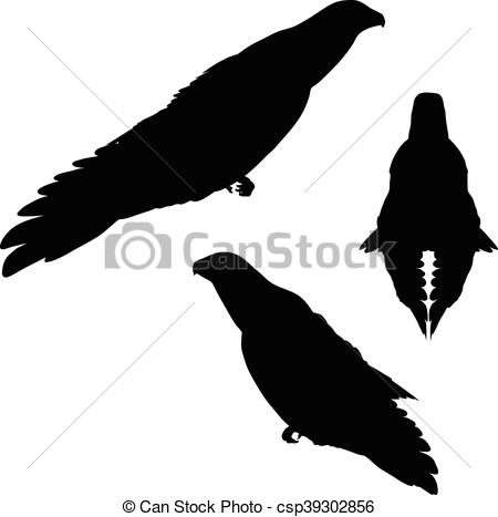 450x467 Eps 10 Vector Illustration Of Eagle Silhouette Clipart Vector
