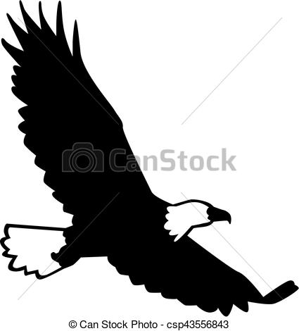 425x470 Bald Eagle Silhouette Flying Eps Vector