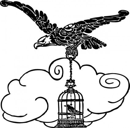 425x420 Flying Eagle Silhouette Clip Art