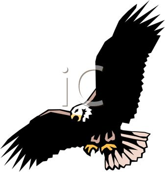 337x350 Free Eagle Silhouette Clipart