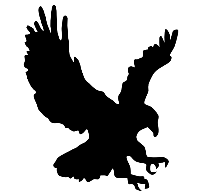 eagle silhouette flying at getdrawings com free for personal use rh getdrawings com  flying eagle wings clipart