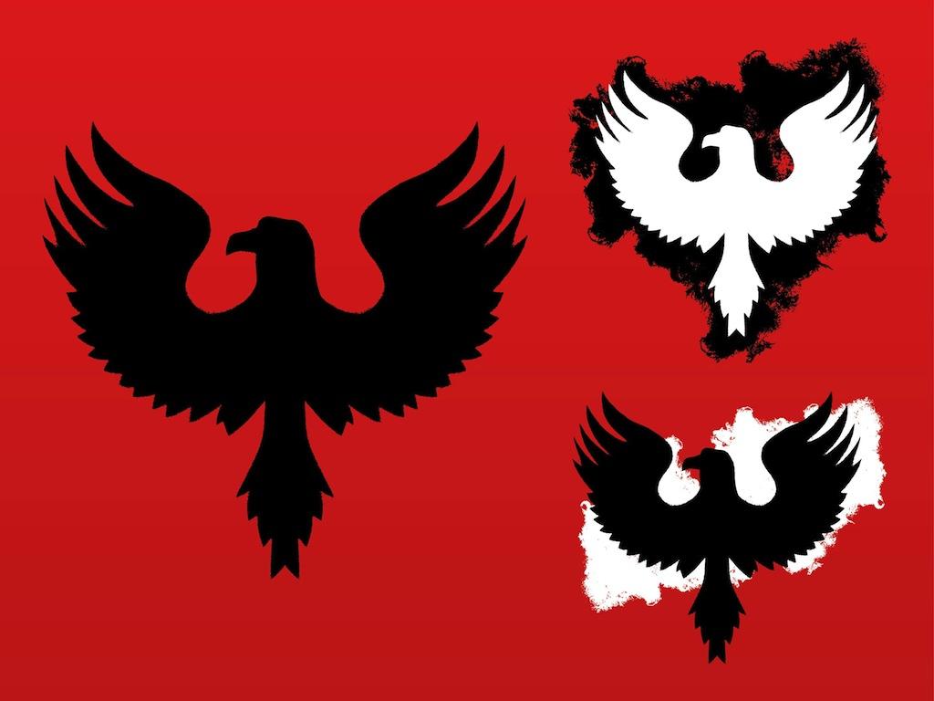 1024x768 Eagle Silhouettes