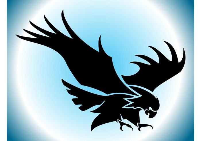 700x490 Flying Eagle Silhouette