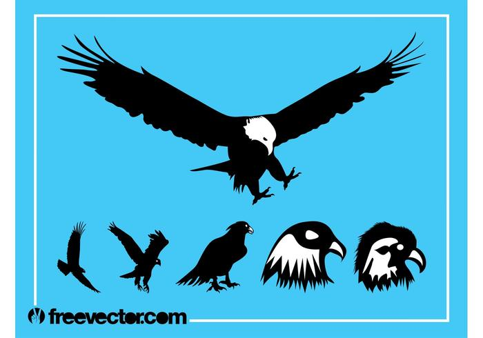 700x490 Eagle Silhouette Free Vector Art