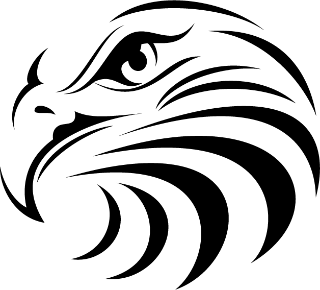 628x568 Eagle Face Is (24 X 24 ) Ready To Be Used For T Shirts, Stickers