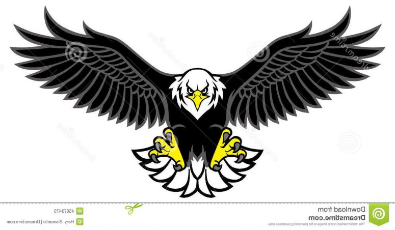 775x452 Eagle With Wings Spread Clipart