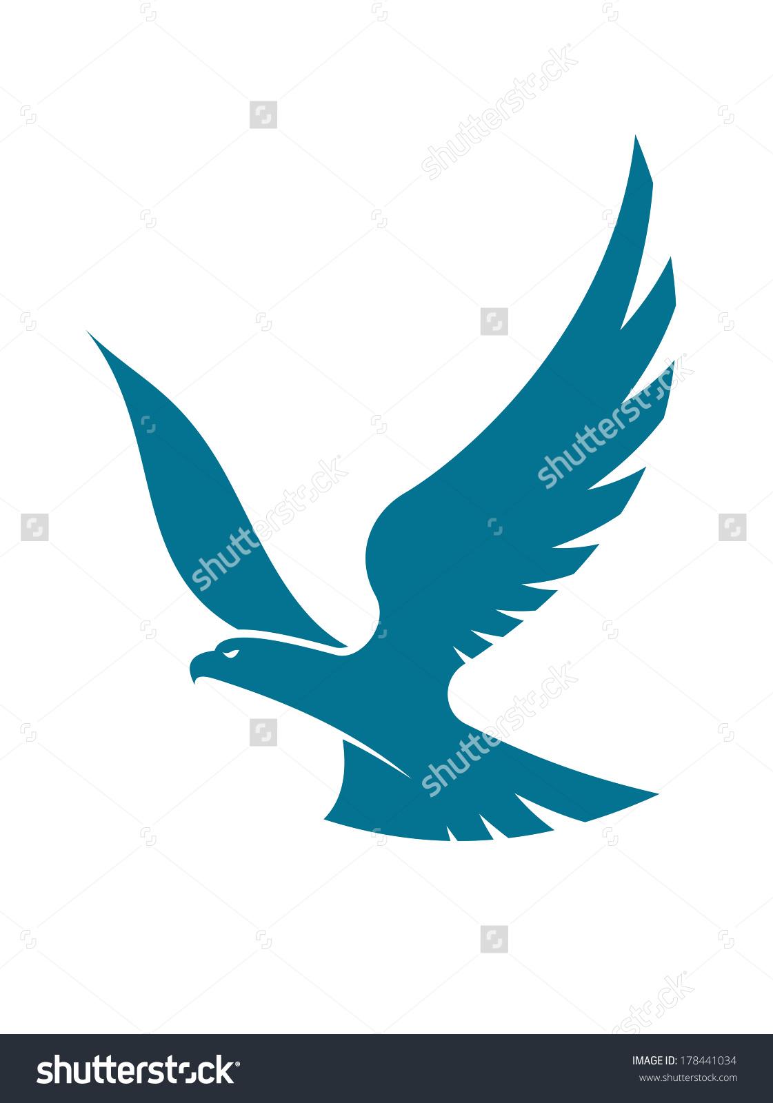 1121x1600 Female High Soring Eagle Logo Clipart