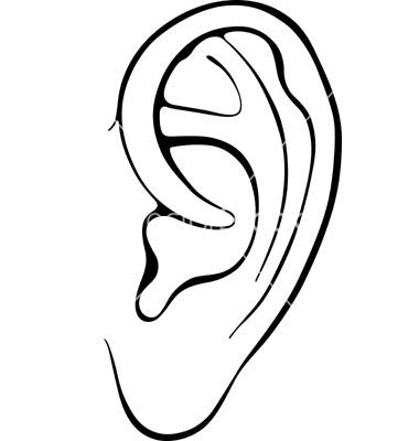380x400 Listening Ears Template Clipart Panda
