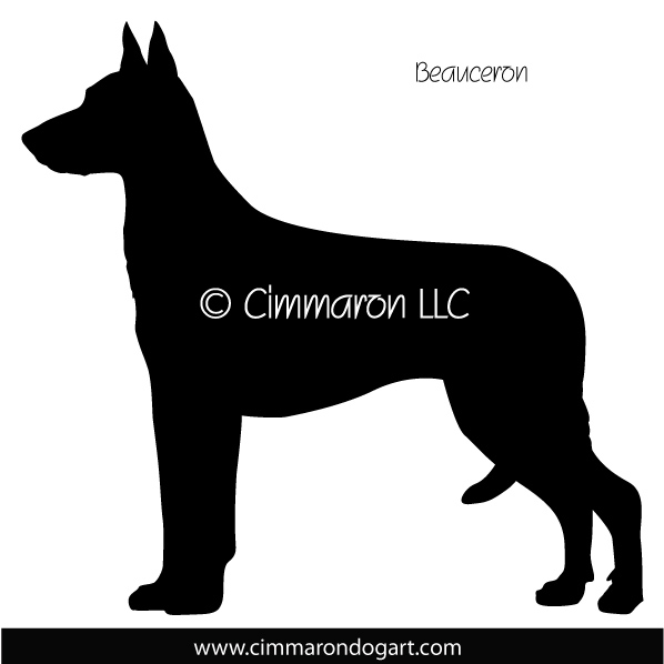 598x598 Beauceron Prick Ear Silhouette Decal