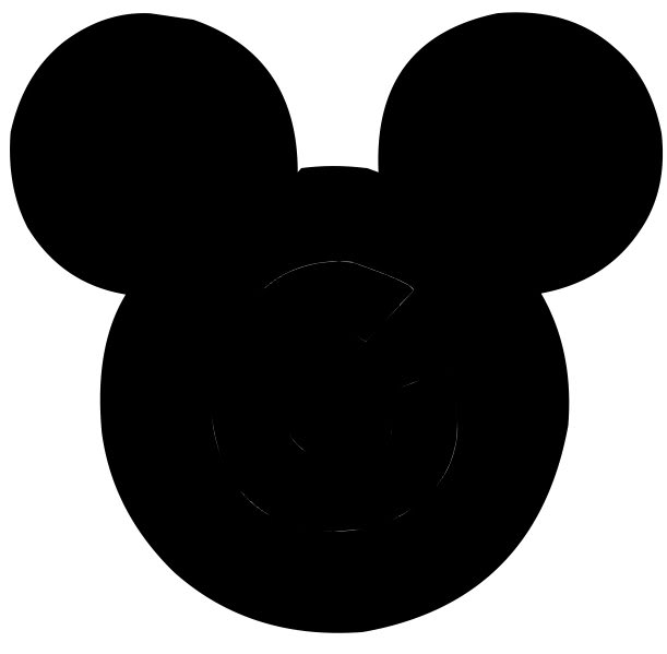 611x599 Disney Character Silhouettes Mickey Head Proportion
