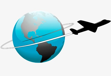 450x309 Earth Airplane Silhouette, Sketch, Earth, Aircraft Silhouette Png