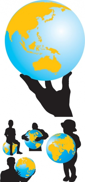 282x600 Earth And Characters Silhouette Vector Free Vector In Encapsulated