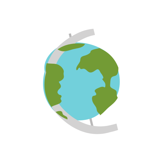 550x550 White Background With Hand Drawn Color Silhouette Of Earth Globe
