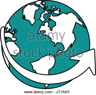 324x320 Color Silhouette Geography Global Map With Location Symbol Stock
