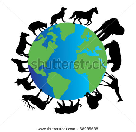 450x437 Poster Ideas Save The World Animal Silhouette