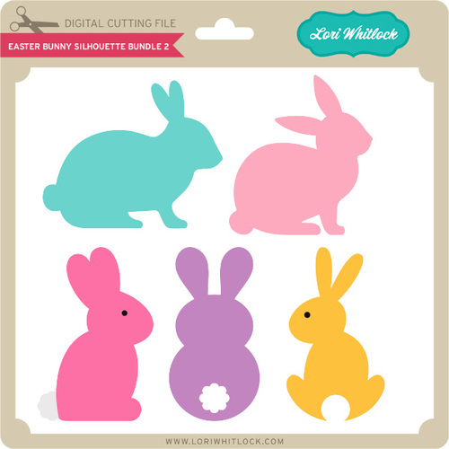 500x500 Easter Bunny Silhouette Bundle 2