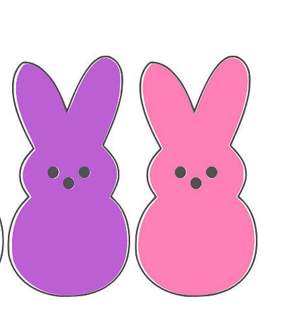 570x613 Easter Peeps Digital Download Cricut Silhouette Download Dxf