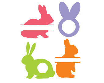 340x270 Easter Bunny Silhouette Cameo Christmas Card And Gift 2018