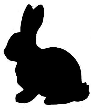 306x366 Bunny Silhouette Easter Bunny Banner } Easter
