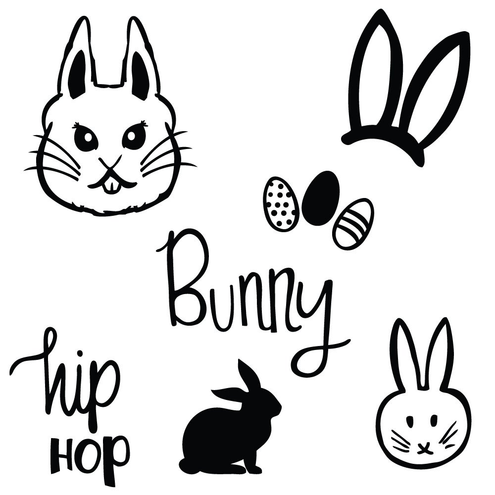 1000x1000 Easter Bunny Cut Files