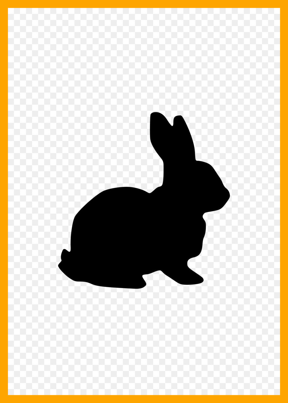 952x1332 Amazing Easter Bunny Vector Set Stock Pics Of Rabbit Silhouette
