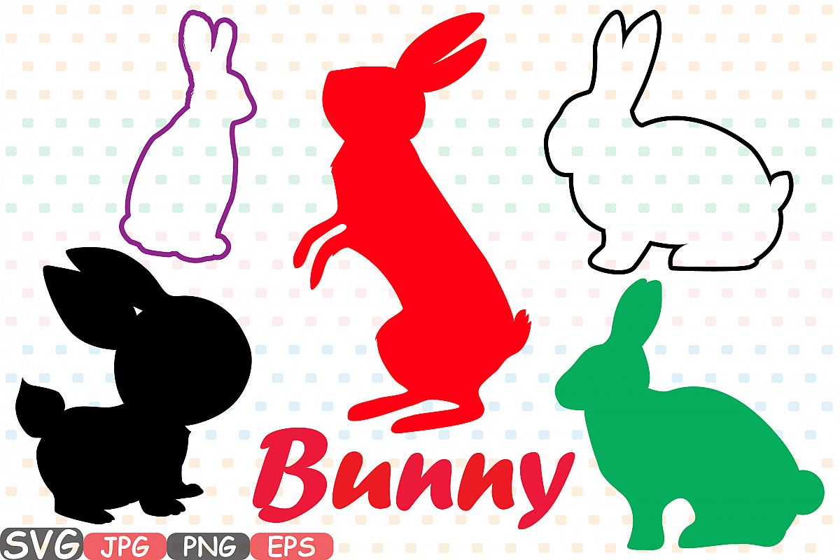1200x800 Easter Bunny Silhouette Svg Cutting Fil Design Bundles
