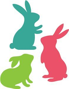 233x300 View Design 3 Easter Bunnies Crafts Easter