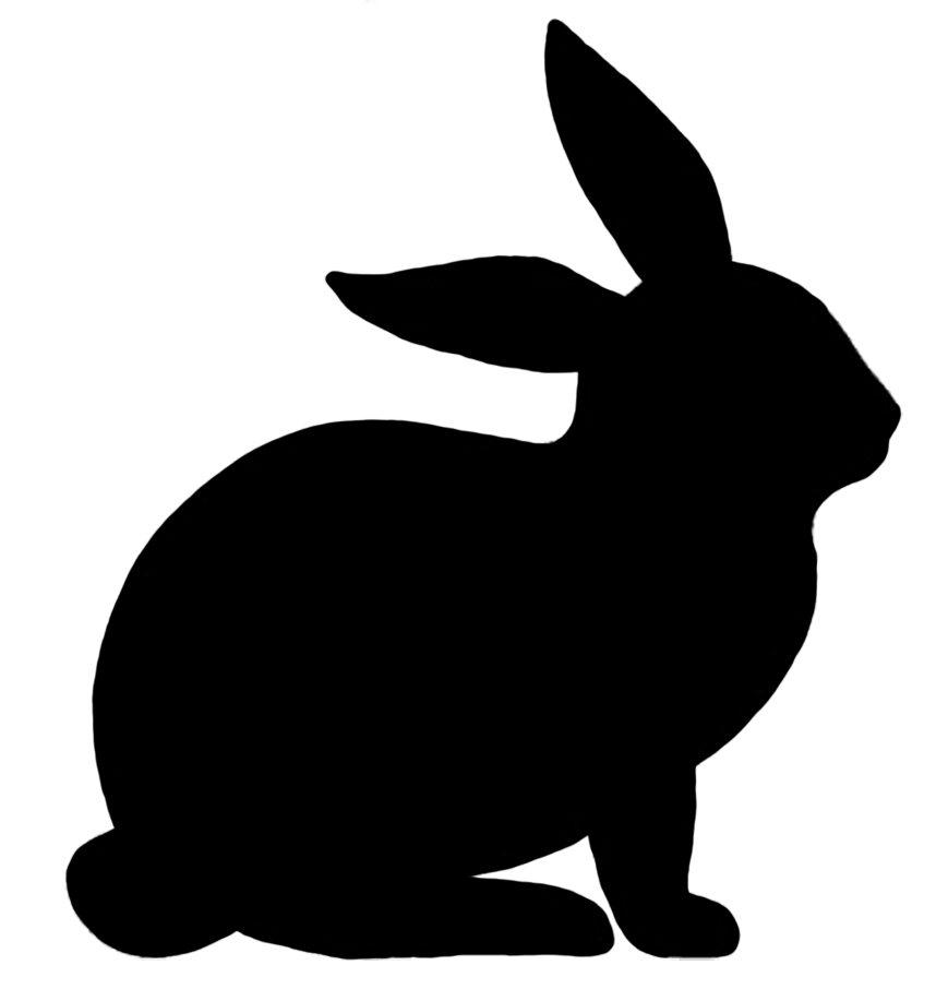 869x917 Rabbit Silhouette