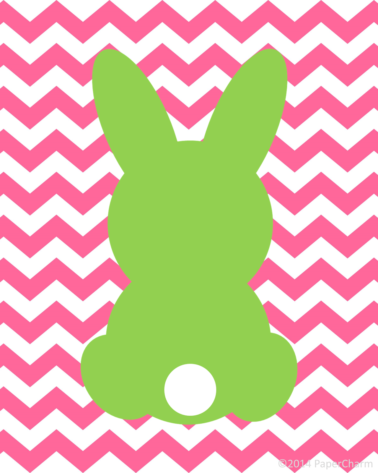 1280x1600 Papercharm Free Bunny Silhouette Easter Printable Art