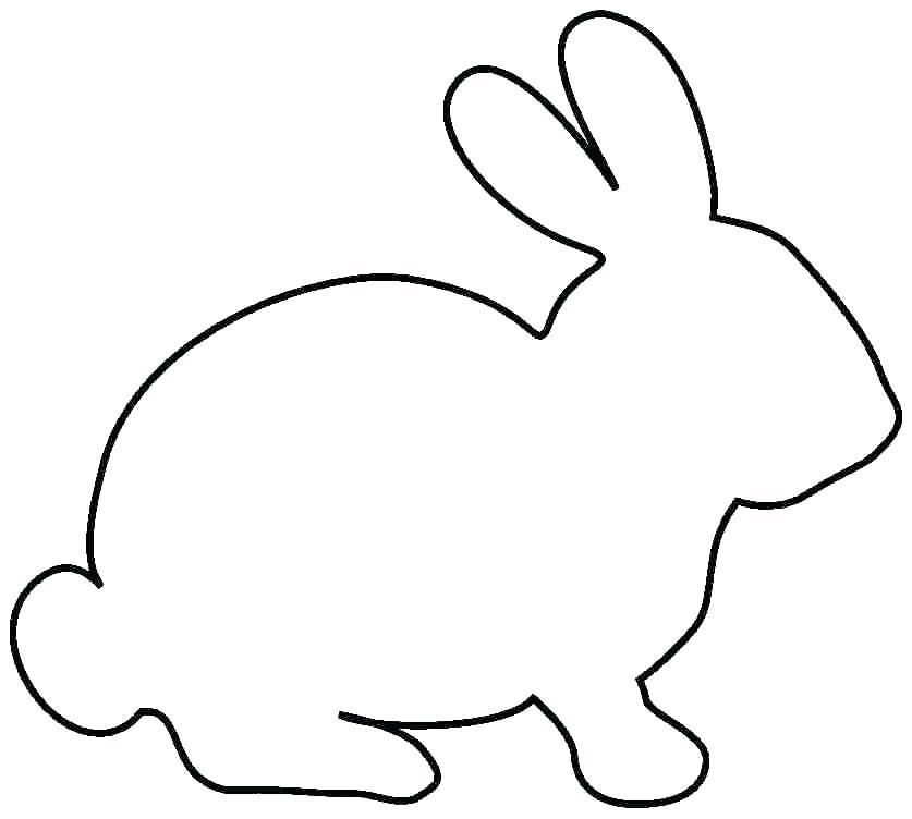 837x752 Bunny Outline Printable