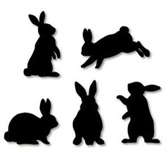 236x236 Bunny Silhouette You Can Google Bunny Silhouette To Find Lots
