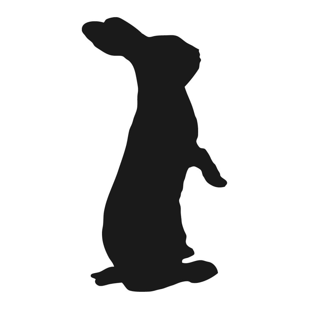 1042x1042 Free Bunny Silhouette Printable