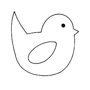300x300 Easter Chick Outlines Happy Easter 2018