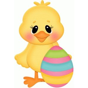 300x300 Easter Chick W Egg Silhouette Design, Easter And Silhouettes
