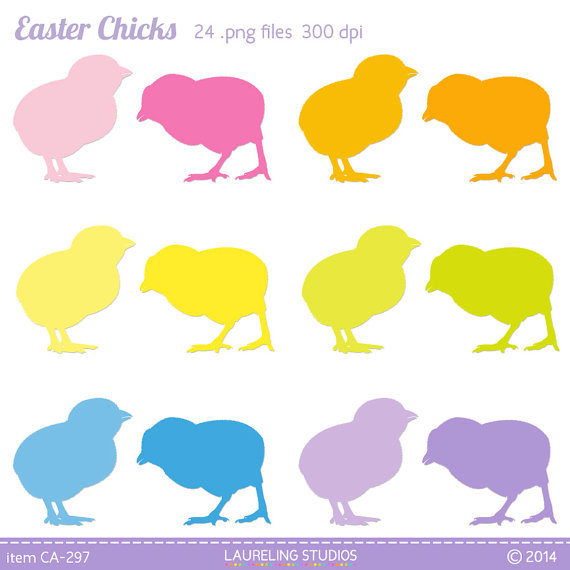 570x570 Items Similar To Easter Chick Clipart, Chicken Silhouette, Easter