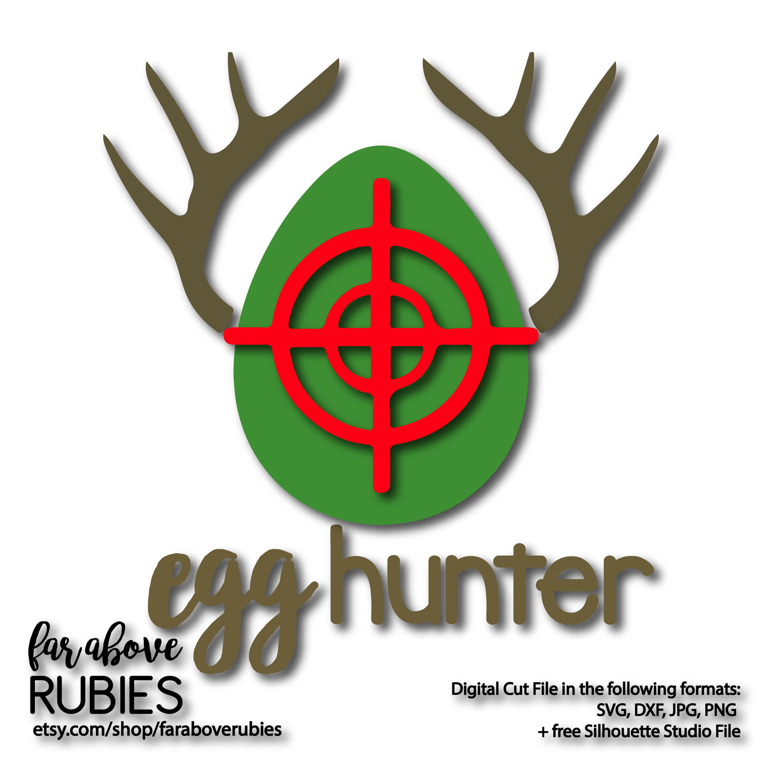 1500x1500 Egg Hunter Deer Antlers Cross Hairs Boys Easter