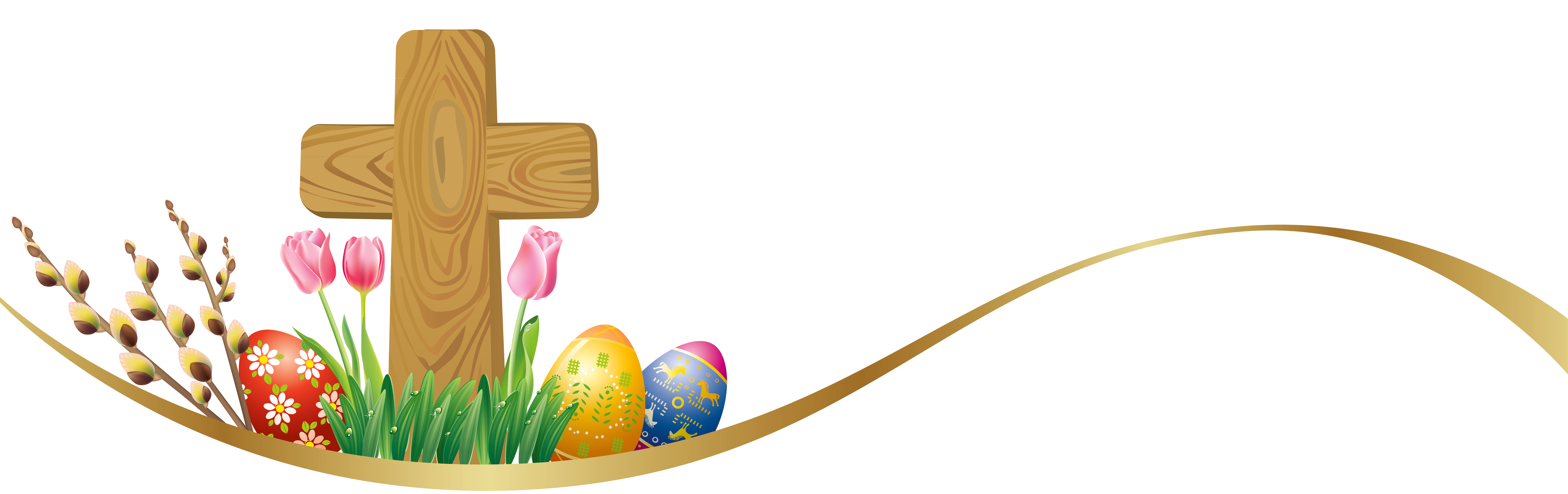 7226x2279 Free Easter Cross Clipart Merry Christmas And Happy New Year 2018